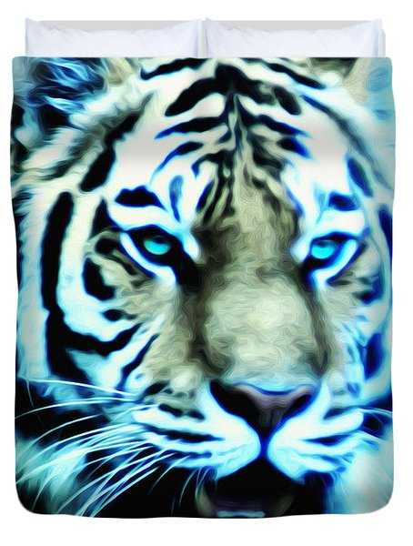 The Fierce Tiger Duvet Cover by Bill Cannon