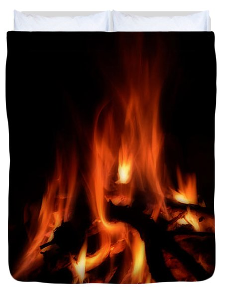 The Fire Duvet Cover by Donna Greene