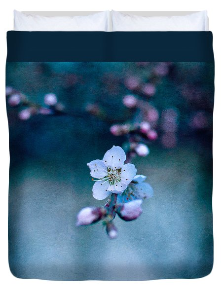 Duvet Cover featuring the photograph The First by Laura Melis