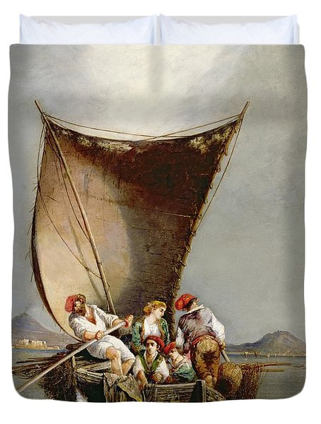 The Fisherman's Family Duvet Cover by Consalvo Carelli