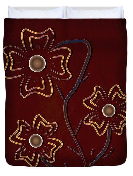 The Flowers  Duvet Cover by Milena Ilieva