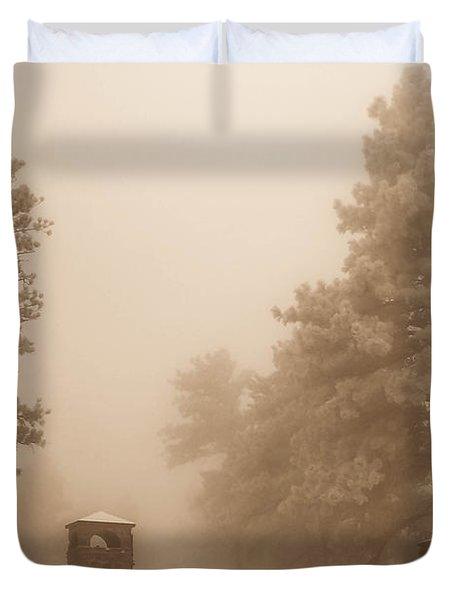 Duvet Cover featuring the photograph The Fog by Shannon Harrington
