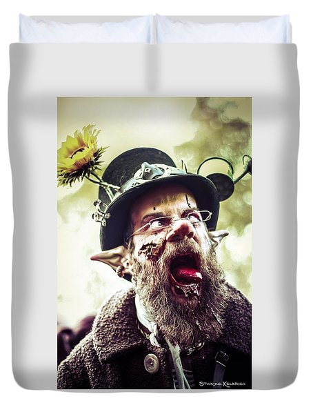 Duvet Cover featuring the photograph The Fool Goblin by Stwayne Keubrick