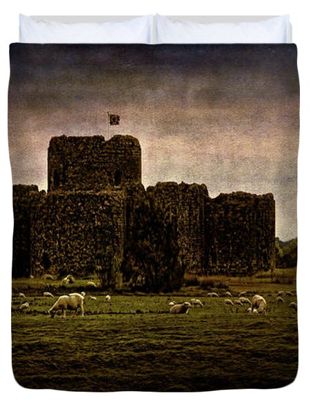 The Fortress Of Minas Morgul Duvet Cover by Chris Lord