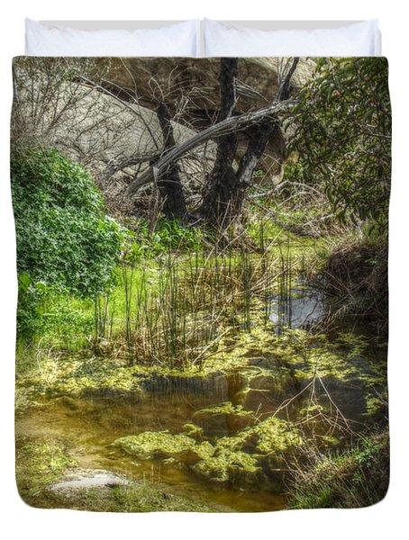The Frog Pond Duvet Cover by Cindy Nunn