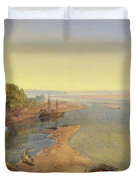 The Ganges Duvet Cover by William Crimea Simpson