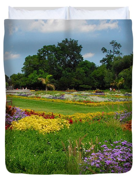 Duvet Cover featuring the photograph The Gardens Of The Conservatory by Lynn Bauer
