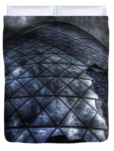 The Gherkin - Neckbreaker View Duvet Cover by Yhun Suarez