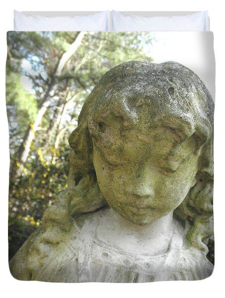 The Girl In My Backyard Duvet Cover by Wayne Potrafka