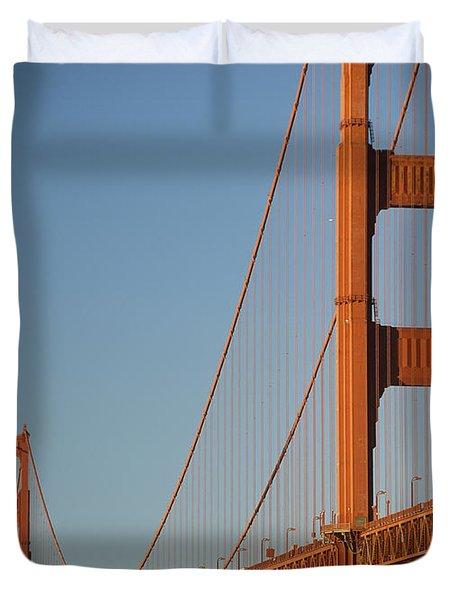 The Golden Gate Bridge At Dawn Duvet Cover by Axiom Photographic