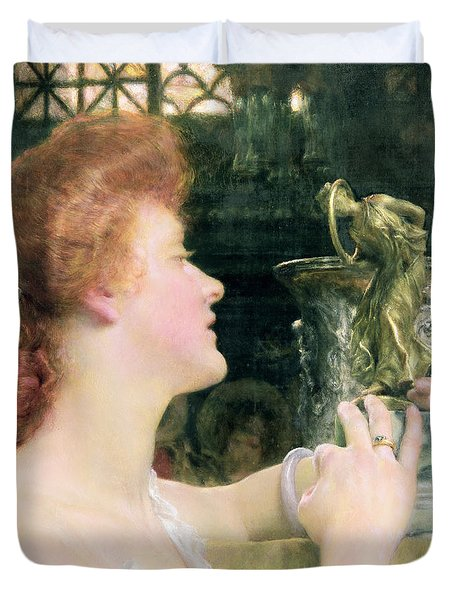 The Golden Hour Duvet Cover by Sir Lawrence Alma-Tadema