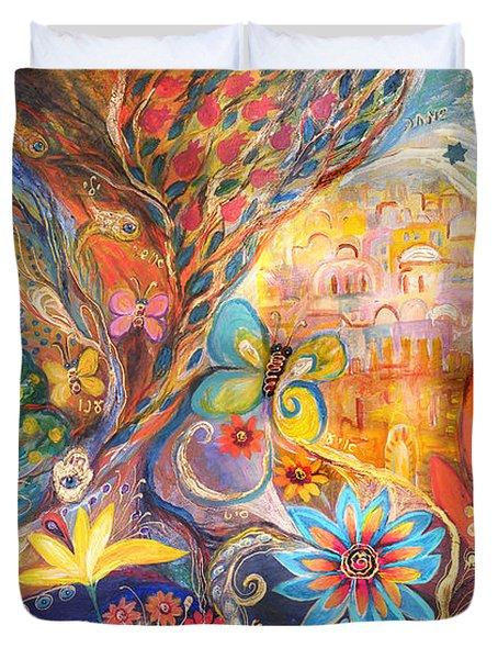 The Golden Jerusalem Duvet Cover