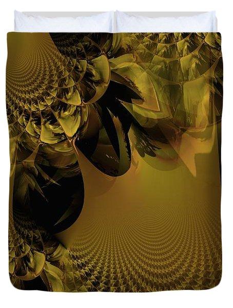 The Golden Mascarade Duvet Cover by Maria Urso
