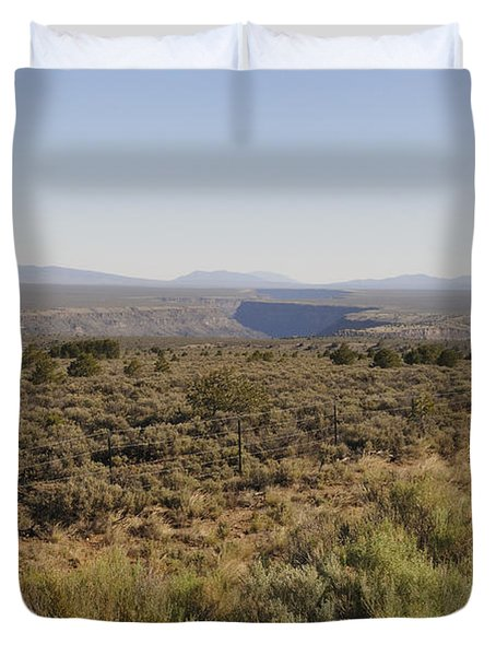 Duvet Cover featuring the photograph The Gorge On The Mesa by Ron Cline