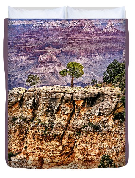 Duvet Cover featuring the photograph The Grand Canyon Iv by Tom Prendergast
