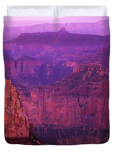 The Grand Canyon North Rim Duvet Cover by Bob Christopher