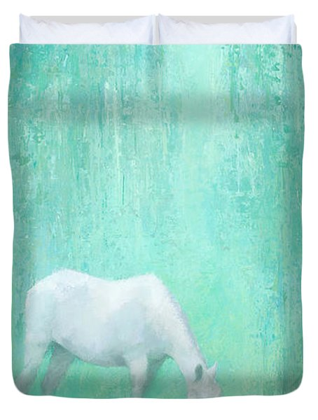 The Green Glade Duvet Cover