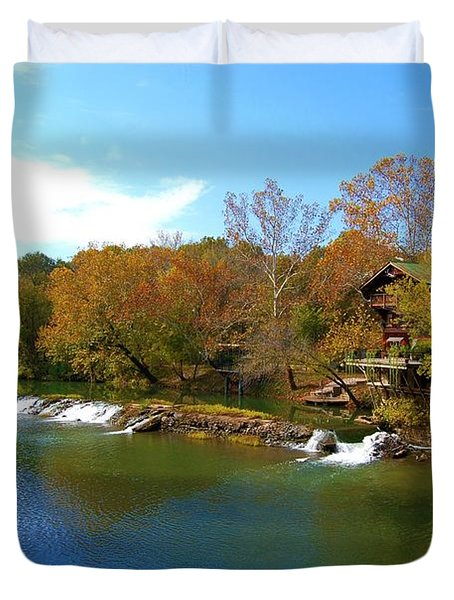 Duvet Cover featuring the photograph The Grist Big River by Peggy Franz