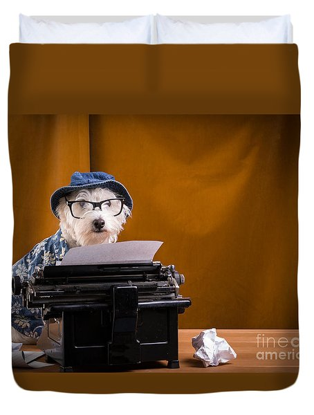 The Hard Boiled Journalist Duvet Cover by Edward Fielding