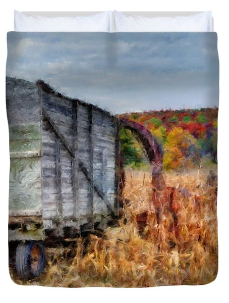 The Harvester Duvet Cover by Michael Garyet