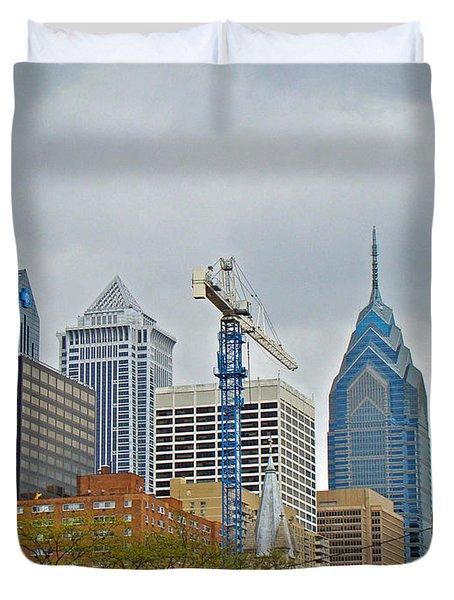 The Heart Of The City - Philadelphia Pennsylvania Duvet Cover by Mother Nature