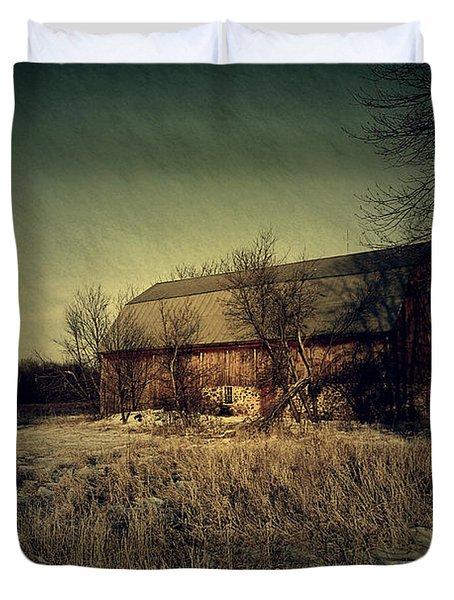The Hiding Barn Duvet Cover by Joel Witmeyer
