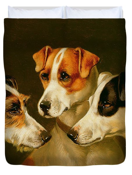 The Hounds Duvet Cover by Alfred Wheeler