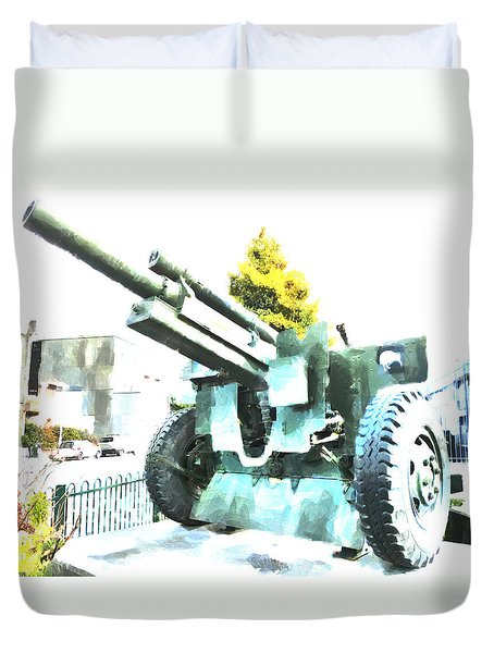 The Howitzer 105mm Field Gun Carriage Duvet Cover