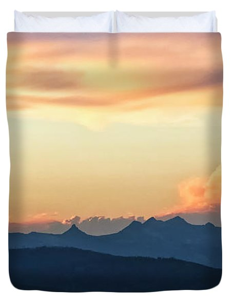 Duvet Cover featuring the photograph The Idaho Selkirks by Albert Seger