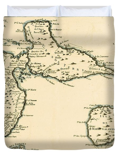 The Islands Of Guadeloupe Duvet Cover by Guillaume Raynal