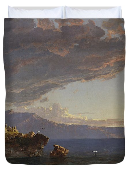 The Isle Of Capri Duvet Cover by Jasper Francis Cropsey