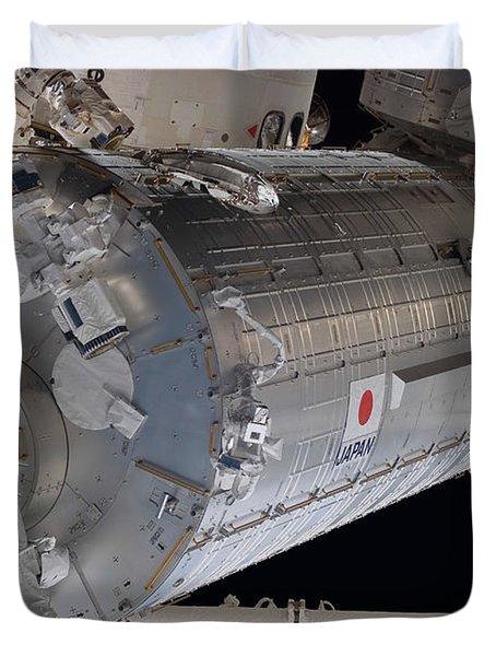 The Japanese Pressurized Module, The Duvet Cover by Stocktrek Images