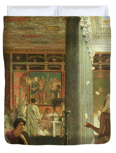 The Juggler Duvet Cover by Sir Lawrence Alma-Tadema