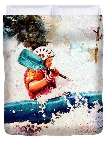 The Kayak Racer 18 Duvet Cover by Hanne Lore Koehler