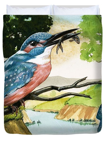 The Kingfisher Duvet Cover