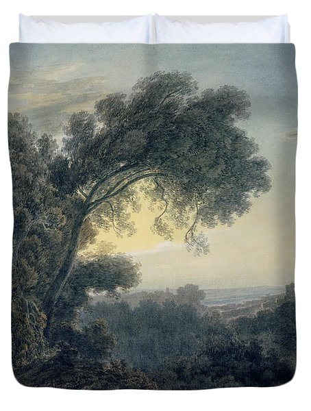 The Lake Of Albano And Castle Gandolfo  Duvet Cover by John Robert Cozens