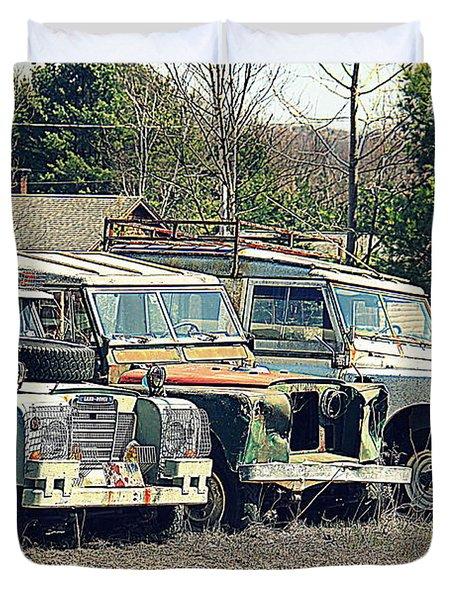 The Land Rover Graveyard Duvet Cover