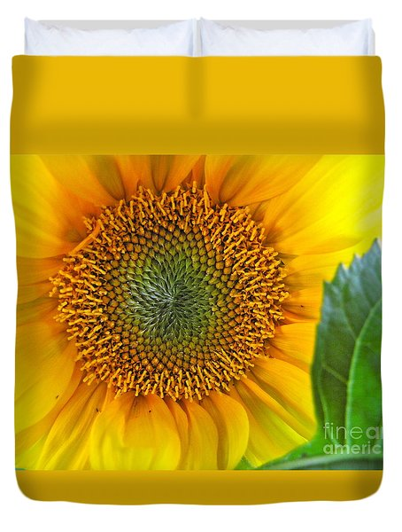 The Last Sunflower Duvet Cover by Sean Griffin
