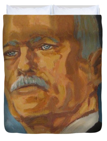 The Late Honorable Jack Layton Duvet Cover by John Malone
