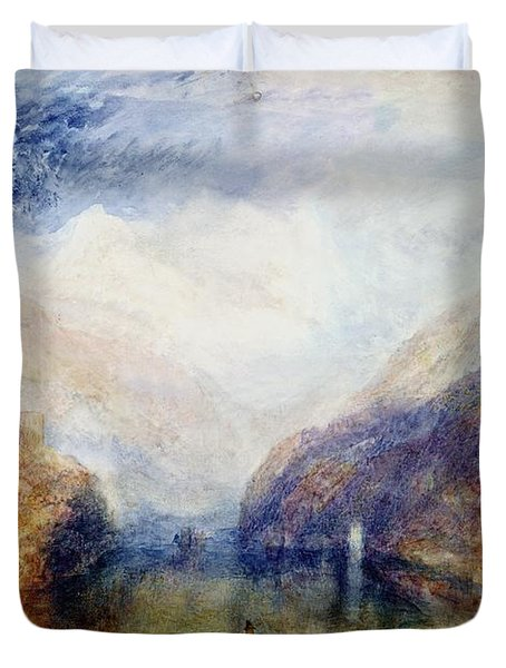 The Lauerzersee With The Mythens Duvet Cover by Joseph Mallord William Turner