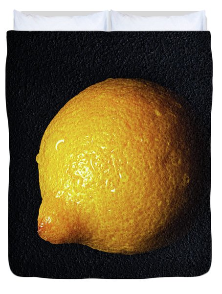 The Lazy Lemon Duvet Cover by Andee Design
