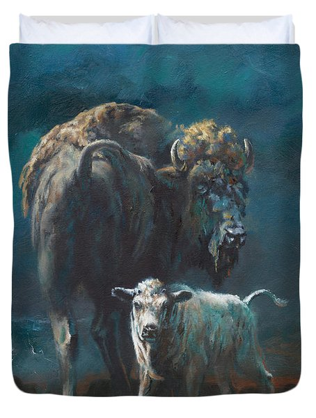 The Legend Begins Duvet Cover by Mia DeLode