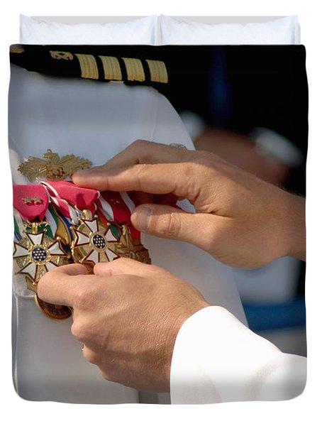 The Legion Of Merit Medal Duvet Cover by Stocktrek Images
