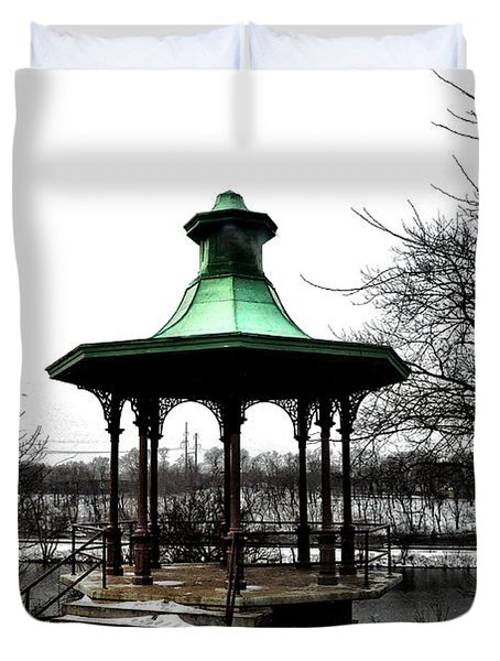 The Lemon Hill Gazebo - Philadelphia Duvet Cover by Bill Cannon