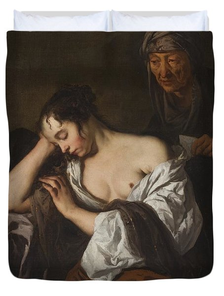 The Letter Duvet Cover by Sir Peter Lely