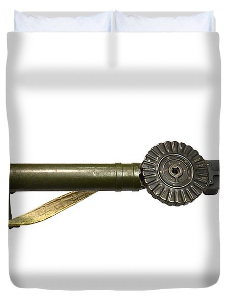 The Lewis Automatic Machine Gun Duvet Cover by Andrew Chittock