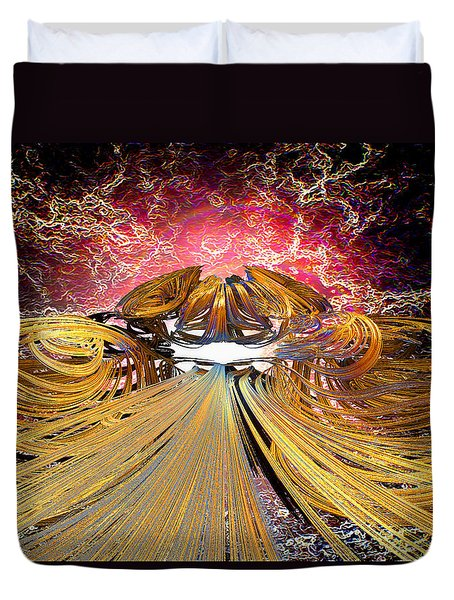The Light At The End Of The Tunnel Duvet Cover by Michael Durst