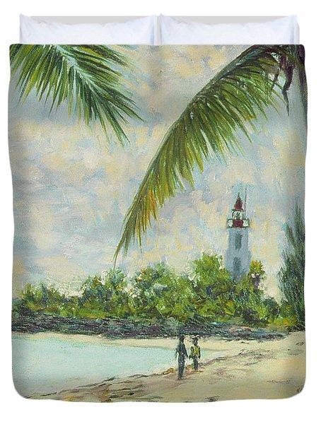 The Lighthouse - Zanzibar Duvet Cover by Tilly Willis