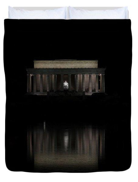 The Lincoln Memorial Duvet Cover by Kim Hojnacki