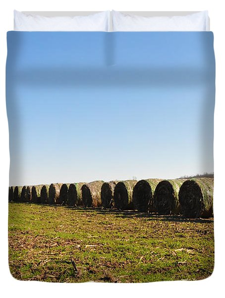 The Line Up Duvet Cover by Bill Cannon